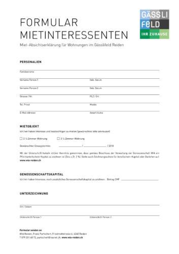Infobrochure Gässlifeld